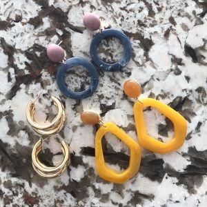 Jewelry - Three Pairs of Earrings 🔥